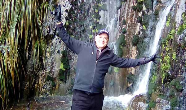 Steve and Waterfall Photo