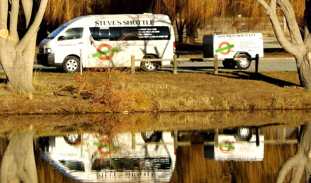 Steve Van mirrored in water Photo